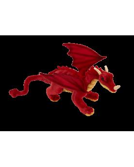 Dragon rouge 42 cm HANSA  –Serpent à Lunettes