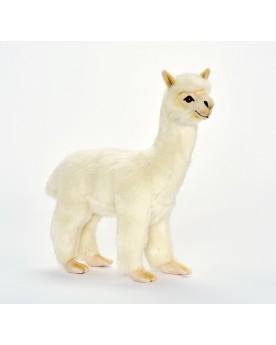 Lama blanc 35 cm HANSA  –Serpent à Lunettes