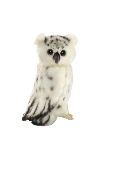 Chouette blanche 18 cm HANSA  –Serpent à Lunettes