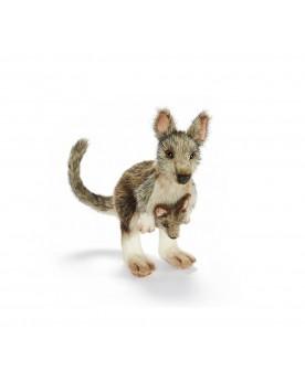 Petit kangourou de la forêt avec bébé 27 cm HANSA  –Serpent à Lunettes