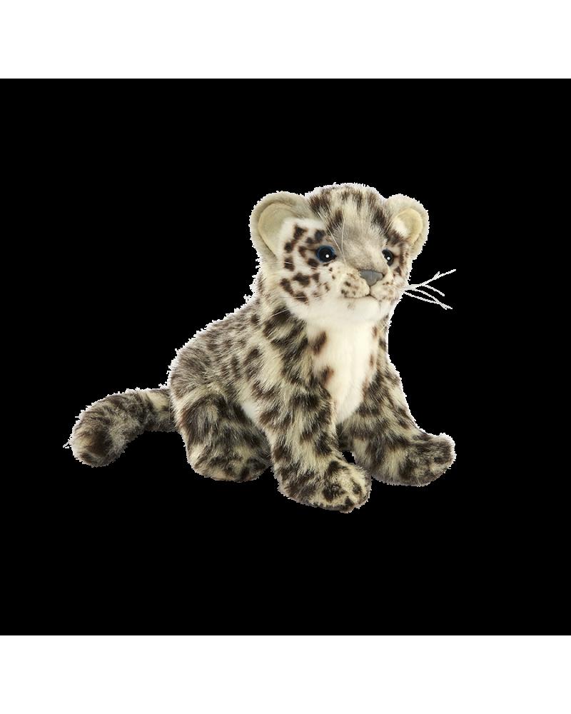 Léopard des neiges assis 20 cm Hansa  –Serpent à Lunettes