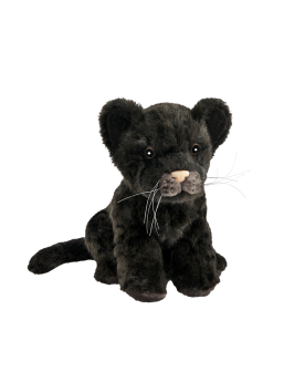 Jaguar noir bébé assis 18 cm HANSA  –Serpent à Lunettes