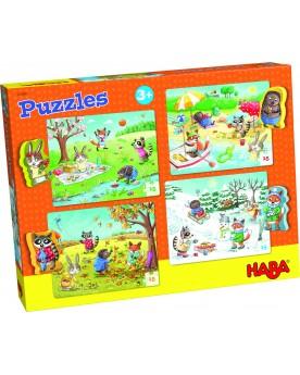 """Puzzles \\""""Les saisons\\"""" Puzzles  –Serpent à Lunettes"""