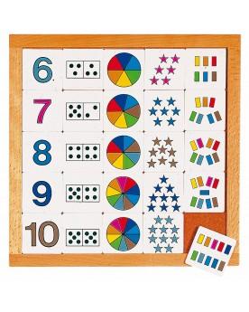 Tableau pour apprendre à compter de 6 à 10 Lire, écrire, compter  –Serpent à Lunettes