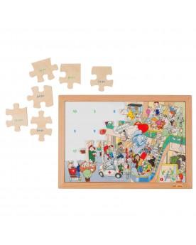 Math puzzle / Addition Lire, écrire, compter  –Serpent à Lunettes