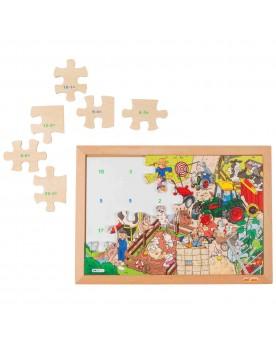 Math puzzle / Soustraction Lire, écrire, compter  –Serpent à Lunettes