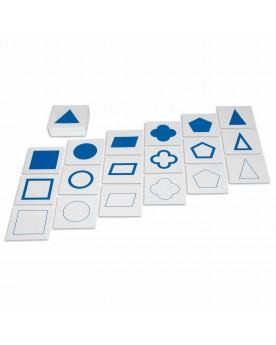 Cartes de formes géométriques (avec contours) Mathématiques  –Serpent à Lunettes