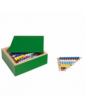 Escaliers de barrettes de perles colorées Mathématiques  –Serpent à Lunettes