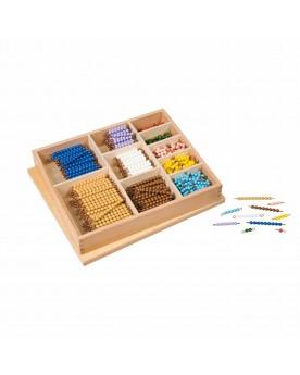 Boîte de barrettes de perles pour multiplication Mathématiques  –Serpent à Lunettes