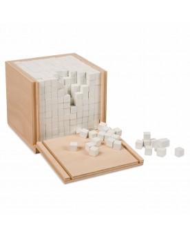 """Coffret \\""""Volume\\"""" avec 1000 cubes Mathématiques  –Serpent à Lunettes"""