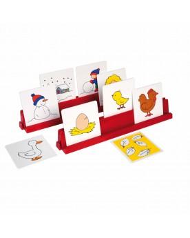 Support de cartes rouge Jeux éducatifs et de création  –Serpent à Lunettes