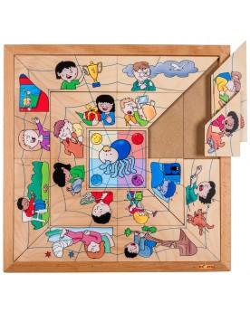 Puzzle: La toile des émotions Puzzles  –Serpent à Lunettes