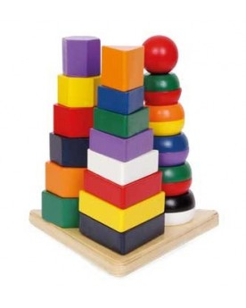 Pyramide «3 en 1» Jouets à empiler ou encastrer  –Serpent à Lunettes