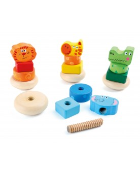 Construction Animaux Jouets à empiler ou encastrer  –Serpent à Lunettes