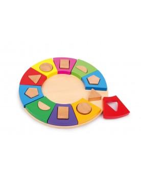 Puzzle à encastrer Formes Cercle Des formes et des couleurs  –Serpent à Lunettes
