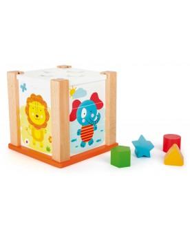 Cube à formes Animaux du zoo Jouets à empiler ou encastrer  –Serpent à Lunettes