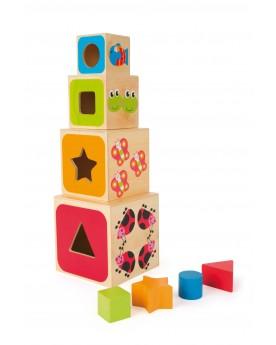 Cubes à empiler Alphabet Jouets à empiler ou encastrer  –Serpent à Lunettes