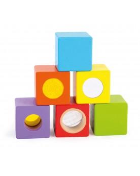 """Cubes en bois \\""""Petits explorateurs\\"""" Blocs de construction  –Serpent à Lunettes"""