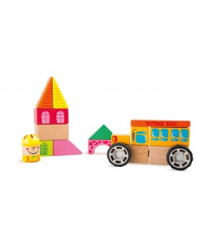 Kit de construction Bus scolaire Blocs de construction  – Serpent à Lunettes