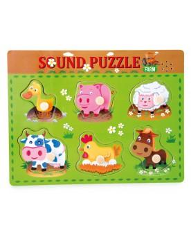 Puzzle à poser «Bruits d'animaux» Puzzles  –Serpent à Lunettes
