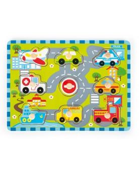 """Puzzle à poser \\""""Circulation de ville\\""""  Puzzles  –Serpent à Lunettes"""