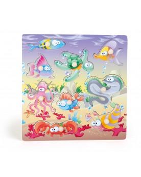 """Puzzle à poser \\""""Monde sous-marin\\"""" Puzzles  –Serpent à Lunettes"""