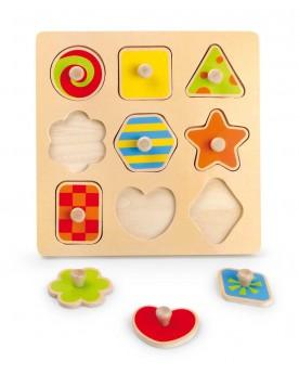 """Puzzle pièces à poser \\""""Formes\\"""" Puzzles  –Serpent à Lunettes"""