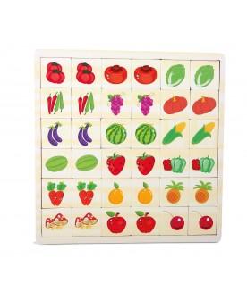 """Puzzle-mémo \\""""Jardin en couleurs\\"""" Puzzles  –Serpent à Lunettes"""