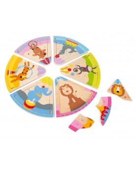 """Puzzle en bois \\""""Animaux du cirque\\"""" Puzzles  –Serpent à Lunettes"""