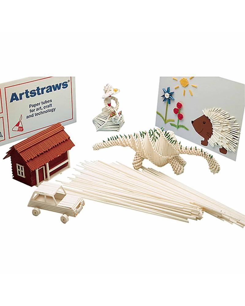 Pailles de couleur décoratives en papier Montessori  –Serpent à Lunettes