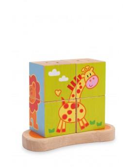Cube à formes «Animaux» Puzzles  –Serpent à Lunettes