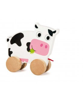 Vache à tirer  Jouets à tirer et pousser  –Serpent à Lunettes
