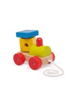 Locomotive à tirer «Tuck» Jouets à tirer et pousser  –Serpent à Lunettes