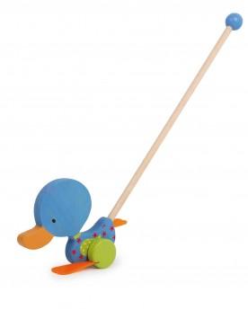 Canard se dandinant «Matteo» Jouets à tirer et pousser  –Serpent à Lunettes